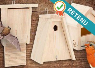 [Projet N°15] Des nichoirs pour oiseaux et chauve-souris